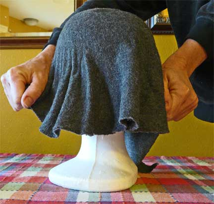 Chapéu de feltro DIY