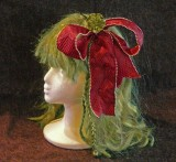 red bow fascinator