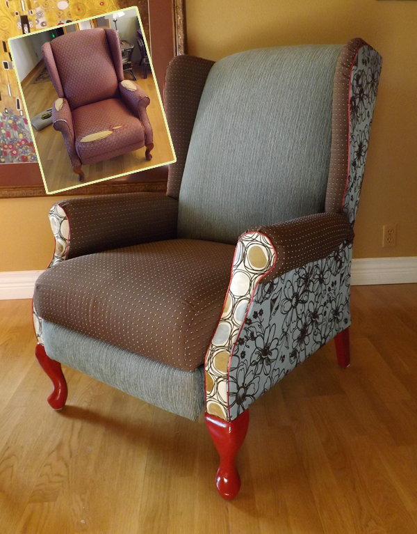 Prettiest Non-Professional Wing Chair Upholstery Ever