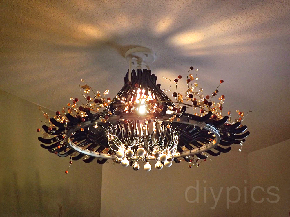 Make a Chandelier out of Hangers