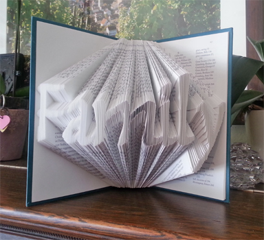 Simplified Folded Book Art