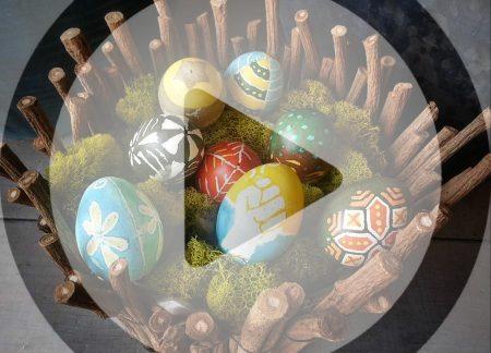 Tintura de ovo de Páscoa