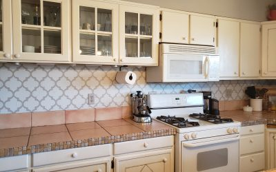 DIY Arabesque Backsplash